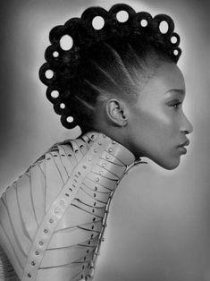 Love this Avant Garde hair hair art Afro Punk, Creative Hairstyles, Up Hairstyles, Avant Garde Hairstyles, Wedding Hairstyles, Pelo Editorial, Beauty Editorial, Futuristic Hair, Coiffure Hair