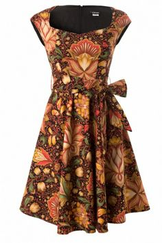 Retrolicious - 50s Vintage Oriental Flower Swing Dress