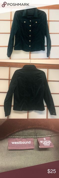 Dark green light jacket by Westbound size small Dark green light jacket by Westbound. Size small (but material is stretchy). Gently used but excellent condition.  Make me an offer! Westbound Jackets & Coats
