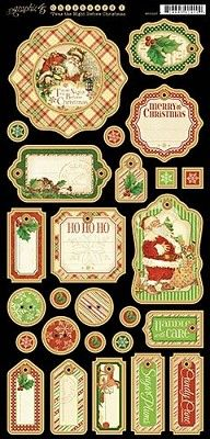 Graphic 45 Twas The Night Before Christmas Chipboard (4500997)