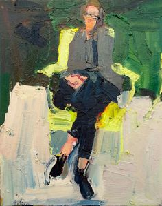 Self portrait at the Whitney 16 x 20 inches oil/canvas 2015 Painting People, Figure Painting, Painting & Drawing, Portrait Art, Portraits, Art Abstrait, Contemporary Paintings, Figurative Art, Painting Inspiration