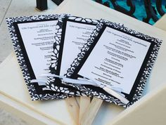 Wedding Program + Fan!