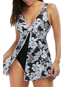 2017 New Womens Sexy Floral One Piece Swimsuit Shaping Body Bathing Suit Beach Wear Swim Dress Swimwear for Women Floral One Piece Swimsuit, One Piece Swimwear, Femmes Les Plus Sexy, Jolie Lingerie, The Bikini, Bikini Beach, Swim Dress, Bathing Suits, Swim Suits Tankini