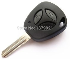 Autewode Uncut  Buttons Replacement Car Cover Key Case Shell Blank For Lada Key Granta Largus