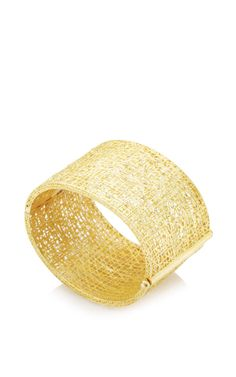 Large Lace Cuff in 18k gold With Champagne Diamonds by Yossi Harari - Spring-Summer 2015 (=)