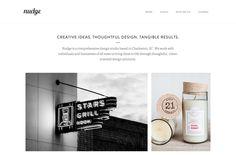 Nudge || Clean and beautiful design studio website