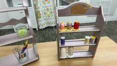 Spice Rack Storage, Quilt Blocks Easy, Storage Organization, Storage Ideas, Creative Storage, Sewing Studio, Thrifting, Spices, Room