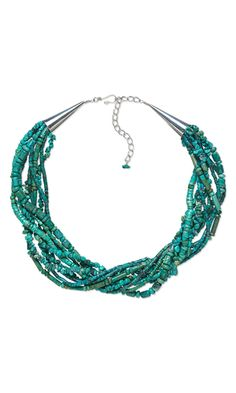 Multi-Strand Necklace with Turquoise Gemstone Beads - Fire Mountain Gems and Beads