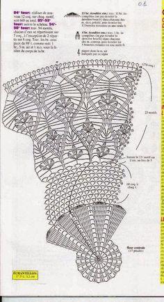 Kira scheme crochet: Scheme crochet no. Crochet Doily Diagram, Crochet Doily Patterns, Crochet Chart, Thread Crochet, Filet Crochet, Crochet Motif, Knit Crochet, Crochet Home, Cute Crochet