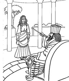 Esther Saves Her People Coloring Page This Will Help You Prepare Your Sunday School Lesson On The Bible Story Of Queen