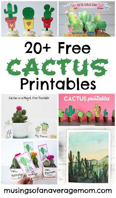 More than 20 free Cactus printables including party printables, wall art, gift tags and more!