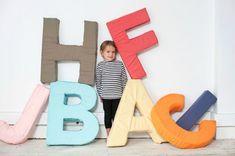 DIY Gian Foam Alphabet Pillows via Oh Happy Day