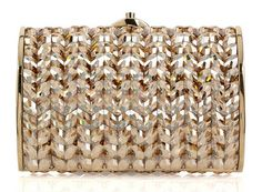 Judith Leiber Crystal and Bead Embellished Clutch