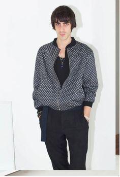 Vogue.com NYFW New York Fashion Week Spring Summer 2016. Assembly New York Mens SS16 with Model Vinny Michaud. Photographed by Regine David. Multi Media Artist & Model Vincent Michaud For Assembly New York Mens Fashion.