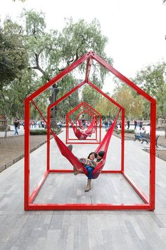 'mi casa, your casa' is a playful urban installation for the time of social distancing Exhibition Stand Design, Urban Landscape, Landscape Design, Urban Intervention, Public Space Design, Urban Furniture, Public Art, Urban Design, Urban Art