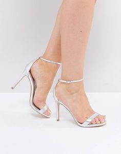 Public Desire - Margi - Chaussures à talons argentées oMtqF