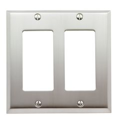 Lewis Double GFCI Coverplate Brushed Nickel