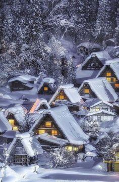 Gifu Prefecture Japan Photograph By kaji_photochromism Shirakawa Go, Gifu, Winter Photography, Go Outside, Belle Photo, Beautiful World, Painting Inspiration, Wonders Of The World, Beautiful Pictures