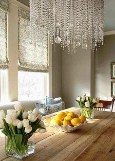 Beautiful crystal chandelier