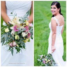 Beautiful bridal bouquet! One Shoulder Wedding Dress, Bouquet, Bridal, Wedding Dresses, Photography, Beautiful, Fashion, Bride Dresses, Moda