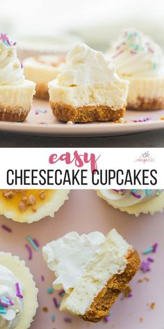This easy Cheesecake Cupcakes recipe mini cheesecakes is simple to make and customize They are freezer friendly and perfect for any dessert table birthday party or baby shower Try Oreo or Strawberry variations too cream cheese cheesecake dessert cupcakes Cream Cheese Cheesecake, Cheesecake Oreo, Cream Cheese Recipes, Cheesecake Recipes, Strawberry Cheesecake Cupcakes, Birthday Cheesecake, Cheesecake Cupcakes Recipe Easy, Cream Cheese Cupcakes, Cream Cheese Desserts