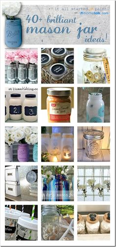 Brilliant mason jar ideas!