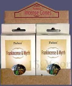 Tulasi Frank-Myrrh Cone Incense