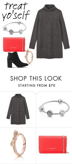 """I'm all about pandora ( besides the shoes 👠 )"" by sarahbiston ❤ liked on Polyvore featuring Pandora, Givenchy and Office"