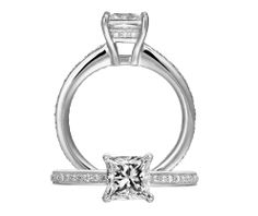 Classic engagement ring | Ritani Collection | Rogers Jewelry Co.