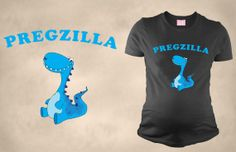 Hahaha! Pregzilla Blue  Maternity Funny T-Shirt Preggo  Pregnancy Shirt  Perfect Gift on Etsy, $28.99