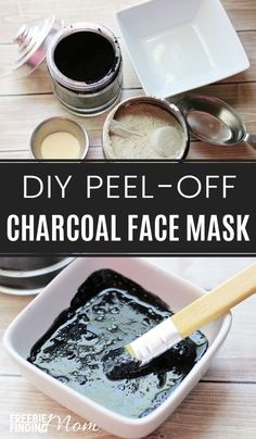 Do you feel like your skin needs a good deep cleaning, detoxifying face treatment? There's no need to head to the spa for an expensive treatment when you can whip up this easy 5-ingredient DIY Activated Charcoal Face Mask recipe in minutes. Not only will this DIY charcoal peel off face mask clean and detoxify your face, but it will also clear up blackheads, dirt, oil and other impurities from your pores leaving your skin feeling clean, fresh and smooth.