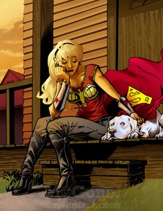Wonder Girl and Krypto