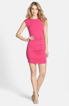 MICHAEL Michael Kors Drawstring Ruched Jersey Dress (Regular & Petite) available at #Nordstrom