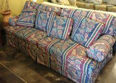 Striped sofa by newleafgalleries, via Flickr
