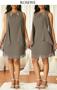 Best Fashion Dresses Part 5 Latest African Fashion Dresses, Women's Fashion Dresses, Dress Outfits, Cute Dresses, Beautiful Dresses, Dress Neck Designs, Classy Outfits, Chiffon Dress, Plus Size Outfits