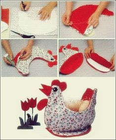 Most current Pics easter Sewing ideas Ideas Ostern Korb Henne Sewing Hacks, Sewing Crafts, Sewing Tips, Chicken Pattern, Chicken Crafts, Diy Ostern, Sewing Projects For Beginners, Easter Baskets, Egg Basket