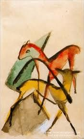 Franz Marc - red and yellow deer