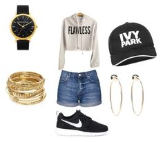 """""""#school"""" by hellokitty379921 on Polyvore featuring Topshop, NIKE, Ivy Park, ABS by Allen Schwartz and Bebe"""