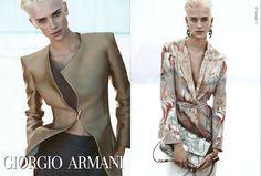 Spring 2012 Giorgio Armani. Model: Milou Van Groesen. Photographer: Mert and Marcus.