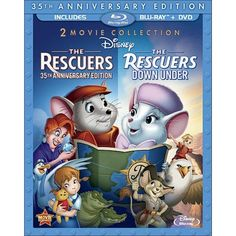 Rescuers: 35th Anniversary Edition/The Rescuers Down Under (3 Discs) (Blu-ray/DVD) (W) (Widescreen)