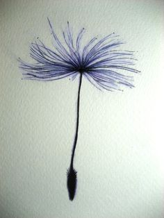 dandelion seed tattoo - i love the purple
