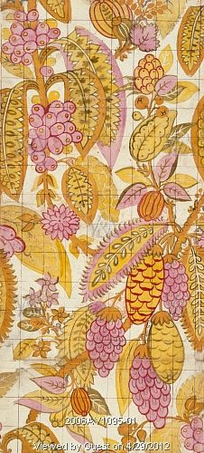 Textile design, by James Leman (1685 - 1745). Spitalfields, London, England, 1719.
