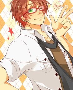 Who would've known glasses would look so good on Spain? He probably would look good with anything though... Hetalia Fan Art