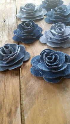 Denim Flower Denim Rose Burlap and Denim Flower Country