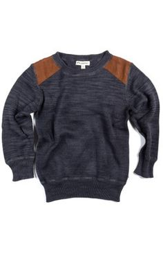 Appaman Shoulder Panel Sweater (Galaxy Heather)