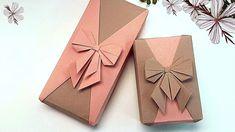 GIFT PACKING   RECTANGULAR GIFT WRAPPING+ORIGAMI PAPER RIBBON BOW DECORATION   I.Sasaki - YouTube Paper Ribbon Bows, Origami Ribbon, Origami Gifts, Origami And Kirigami, Gift Wrapping Bows, Gift Wraping, Present Wrapping, Creative Gift Wrapping, Envelope Origami