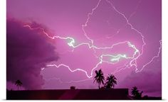 Volcanic lightning related to eruption plume and passing thunderstorm