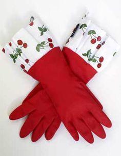 Cherry kitchen gloves