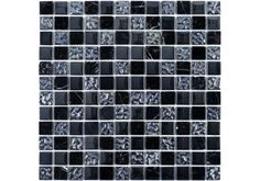 The Ripple Glass & Stone Mosaic is one of our best selling glass mosaics and has a beautiful mixture of textured glass and Toros Negro marble which give this mosaic a truly modern feel. Perfect for a feature wall in a shower. £9.95 per sheet