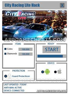 City Racing Lite Cheats, Tips & Hack for Coins & Diamonds  #CityRacingLite #Racing #Simulation http://appgamecheats.com/city-racing-lite-tips-hack-cheats/